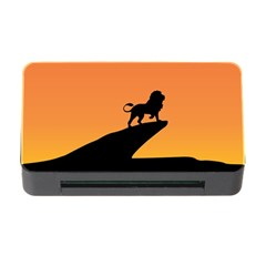 Lion Sunset Wildlife Animals King Memory Card Reader with CF
