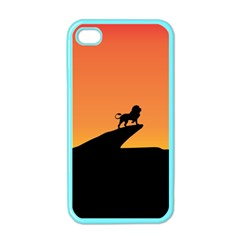Lion Sunset Wildlife Animals King Apple Iphone 4 Case (color)