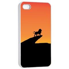 Lion Sunset Wildlife Animals King Apple Iphone 4/4s Seamless Case (white)