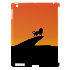 Lion Sunset Wildlife Animals King Apple iPad 3/4 Hardshell Case (Compatible with Smart Cover)