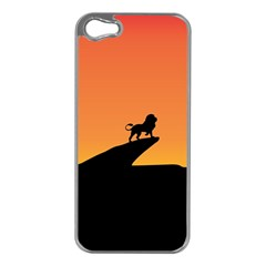 Lion Sunset Wildlife Animals King Apple Iphone 5 Case (silver)