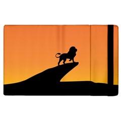Lion Sunset Wildlife Animals King Apple Ipad 3/4 Flip Case