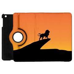 Lion Sunset Wildlife Animals King Apple Ipad Mini Flip 360 Case