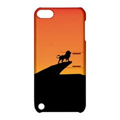 Lion Sunset Wildlife Animals King Apple iPod Touch 5 Hardshell Case with Stand