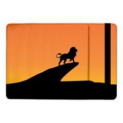 Lion Sunset Wildlife Animals King Samsung Galaxy Tab Pro 10 1  Flip Case