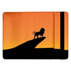 Lion Sunset Wildlife Animals King Samsung Galaxy Tab Pro 12 2  Flip Case