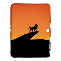 Lion Sunset Wildlife Animals King Samsung Galaxy Tab 4 (10 1 ) Hardshell Case