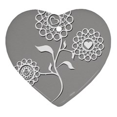 Flower Heart Plant Symbol Love Ornament (heart)