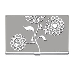 Flower Heart Plant Symbol Love Business Card Holders