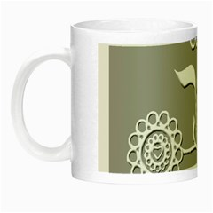 Flower Heart Plant Symbol Love Night Luminous Mugs