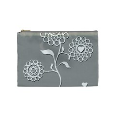 Flower Heart Plant Symbol Love Cosmetic Bag (Medium)