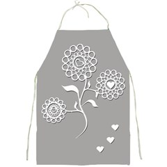 Flower Heart Plant Symbol Love Full Print Aprons