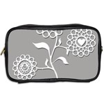 Flower Heart Plant Symbol Love Toiletries Bags 2-Side Back
