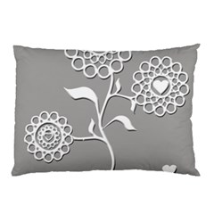 Flower Heart Plant Symbol Love Pillow Case (two Sides)