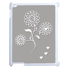 Flower Heart Plant Symbol Love Apple iPad 2 Case (White)