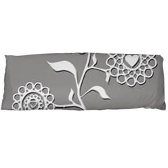 Flower Heart Plant Symbol Love Body Pillow Case Dakimakura (Two Sides)