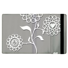 Flower Heart Plant Symbol Love Apple Ipad 2 Flip Case