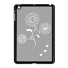 Flower Heart Plant Symbol Love Apple iPad Mini Case (Black)