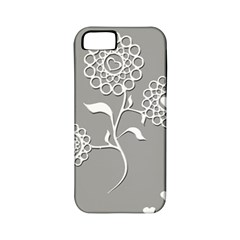 Flower Heart Plant Symbol Love Apple Iphone 5 Classic Hardshell Case (pc+silicone)