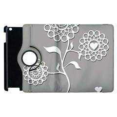 Flower Heart Plant Symbol Love Apple Ipad 3/4 Flip 360 Case