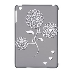 Flower Heart Plant Symbol Love Apple Ipad Mini Hardshell Case (compatible With Smart Cover)