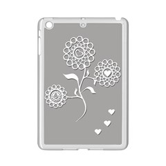 Flower Heart Plant Symbol Love Ipad Mini 2 Enamel Coated Cases
