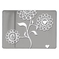 Flower Heart Plant Symbol Love Samsung Galaxy Tab 10.1  P7500 Flip Case