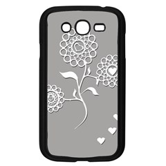 Flower Heart Plant Symbol Love Samsung Galaxy Grand Duos I9082 Case (black)