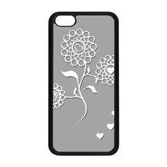 Flower Heart Plant Symbol Love Apple Iphone 5c Seamless Case (black)