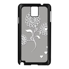 Flower Heart Plant Symbol Love Samsung Galaxy Note 3 N9005 Case (black)