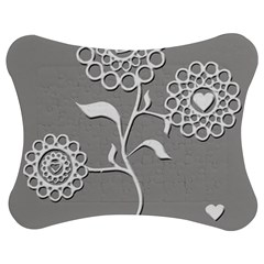 Flower Heart Plant Symbol Love Jigsaw Puzzle Photo Stand (Bow)