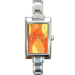 Abstract Orange Yellow Red Color Rectangle Italian Charm Watch
