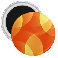 Abstract Orange Yellow Red Color 3  Magnets