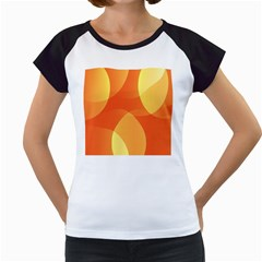 Abstract Orange Yellow Red Color Women s Cap Sleeve T