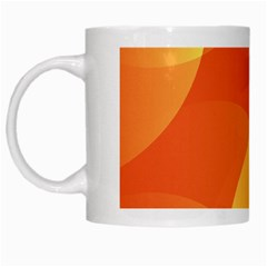 Abstract Orange Yellow Red Color White Mugs