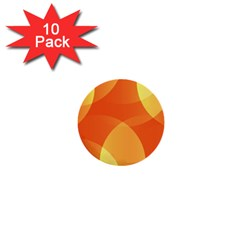 Abstract Orange Yellow Red Color 1  Mini Buttons (10 Pack)
