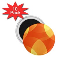 Abstract Orange Yellow Red Color 1 75  Magnets (10 Pack)