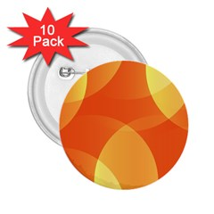 Abstract Orange Yellow Red Color 2 25  Buttons (10 Pack)