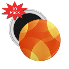 Abstract Orange Yellow Red Color 2.25  Magnets (10 pack)