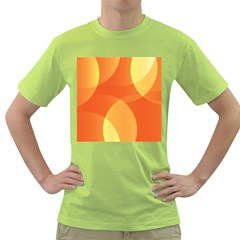 Abstract Orange Yellow Red Color Green T-Shirt