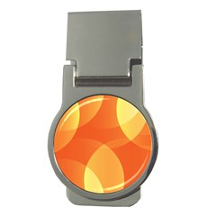 Abstract Orange Yellow Red Color Money Clips (round)