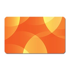 Abstract Orange Yellow Red Color Magnet (Rectangular)