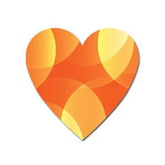 Abstract Orange Yellow Red Color Heart Magnet
