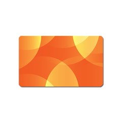 Abstract Orange Yellow Red Color Magnet (Name Card)