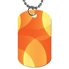 Abstract Orange Yellow Red Color Dog Tag (one Side)