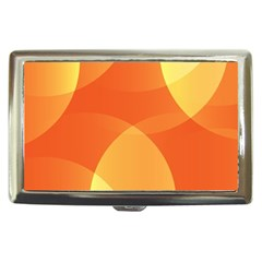 Abstract Orange Yellow Red Color Cigarette Money Cases