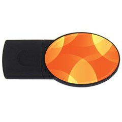 Abstract Orange Yellow Red Color USB Flash Drive Oval (2 GB)