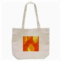 Abstract Orange Yellow Red Color Tote Bag (cream)