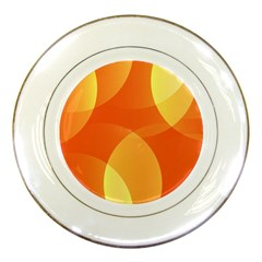 Abstract Orange Yellow Red Color Porcelain Plates