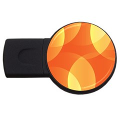 Abstract Orange Yellow Red Color USB Flash Drive Round (4 GB)